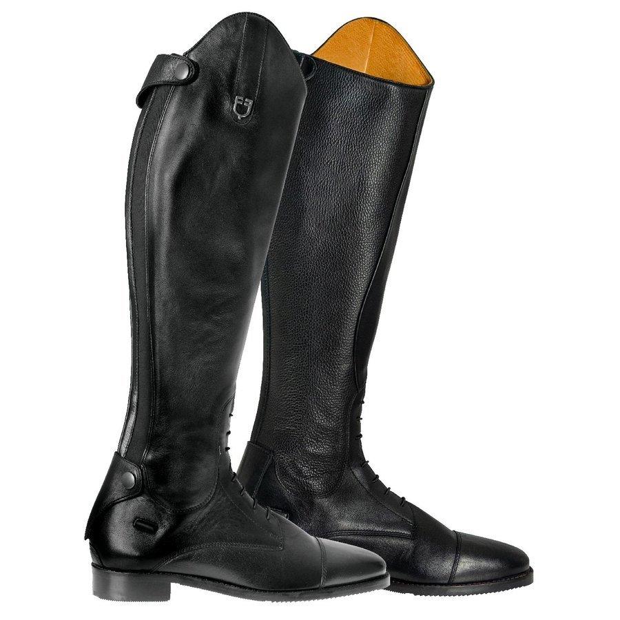 Stivali da concorso in cuoio con zip posteriore Equestro