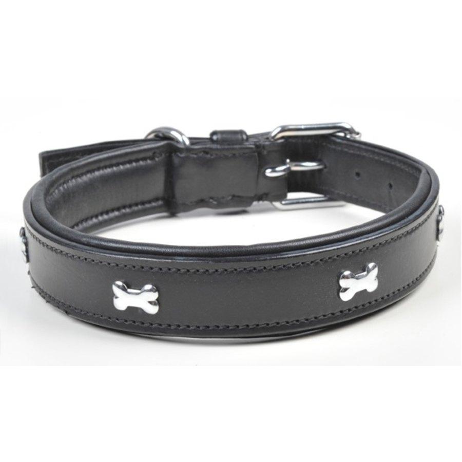 Collare in pelle per cani bone hkm sports articoli per for Articoli per cani