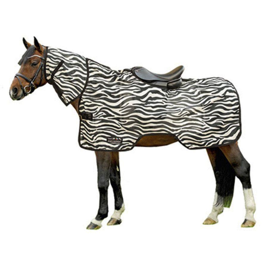 coperta antimosche -zebra- hkm sports - coperte antimosche ed