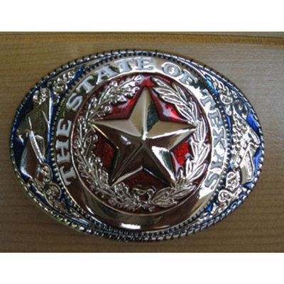 Magros Fibbia per cintura the state of texas colori usa