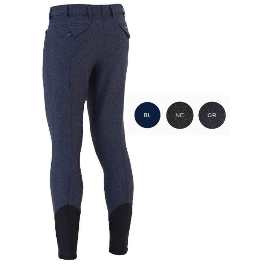 0f62c59e1056cf Sarm Hippique Pantaloni da uomo Patrick in microfibra di jeans per  equitazione
