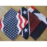 Bandane western, colore usa, rebel e texas