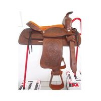 Sella western pony red horns