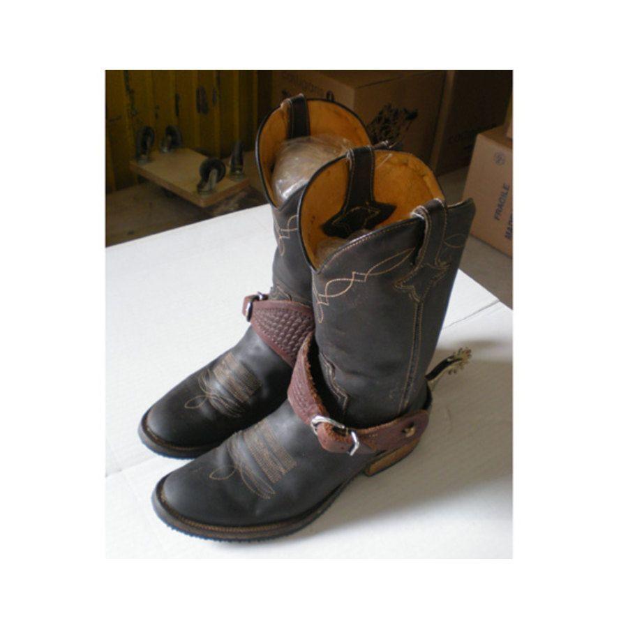 scarpe sportive db9f0 668ab Stivali Da Monta Western Barkley's & Co Taglia 43, Compresi Di Speroni