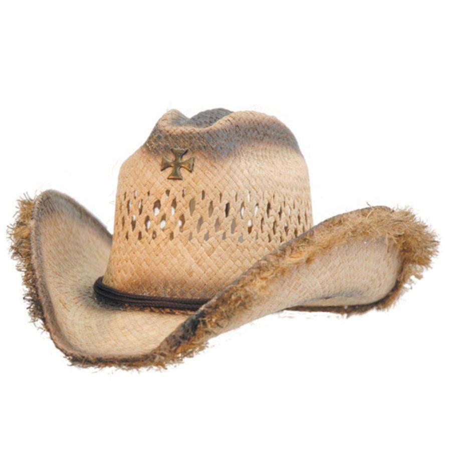 Cappello western in paglia modello used con laccetto sottogola regolabile 9c7437c8f1a3