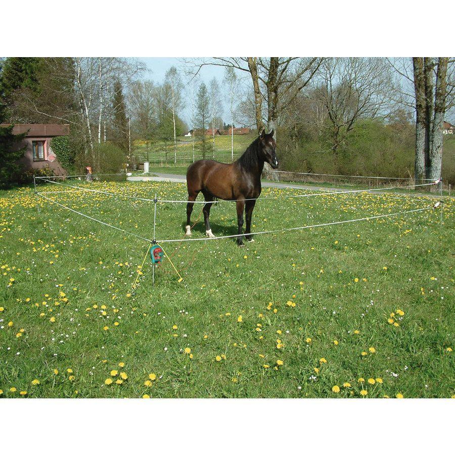 Kit recinto elettrico portatile da trekking recinzioni for Recinzione elettrica per cavalli