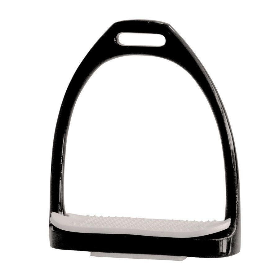 Staffe inglesi in acciaio inox nero complete di pedane in gomma - Staffe e Accessori  La ...