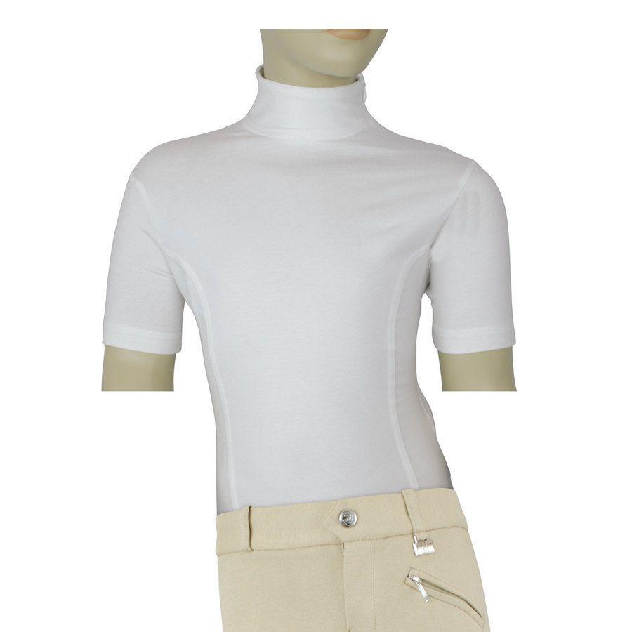 Comfort Zip Sottogiacca In T Chiusura A Shirt Sul Cotone Con Equi NvOnw8m0